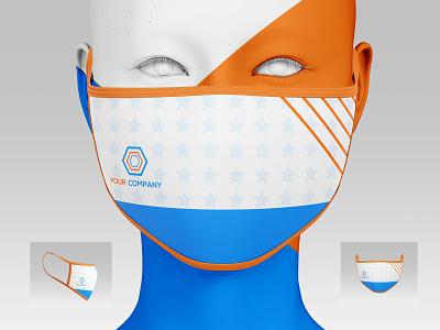 Mask mask design mask illustration template print branding design