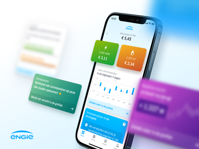 New home for ENGIE's energy app app energy blue mobile dutch home dashboard native ui ux engie b2c compare android ios