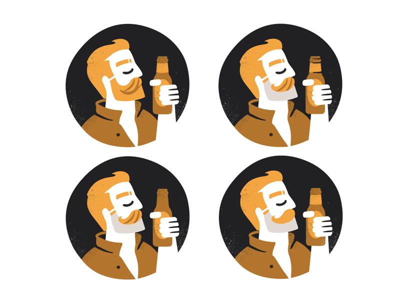 Amorales Brewery  brewery logo beer craft character amorales man men human beard outline