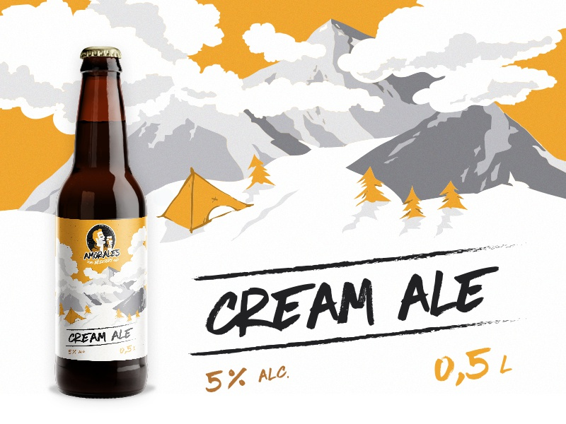 Label for craft beer - Cream Ale ale cream amorales craft label beer