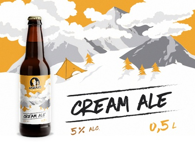 Label for craft beer - Cream Ale