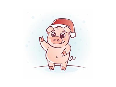 Christmas Piggy pig stock christmas new year