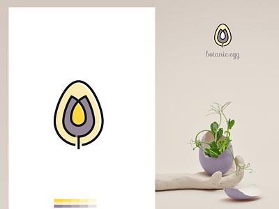 Botanic egg minimalist unique organic flower fiminine luxury creative moredn logo logo deisgn branding