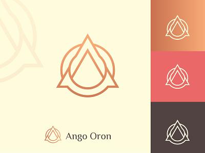Ango Oron fashoin elegant simple creative logo design modern logo luxury logo branding