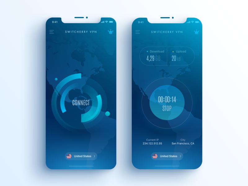 Switcherry VPN proxy connect iphone 11 iphone 12 ios13 blue vpn
