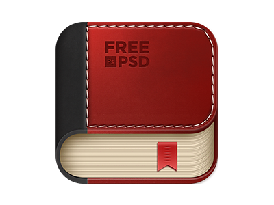 Book App Icon book icon book free icon leather stitch leathered book icon free psd psd