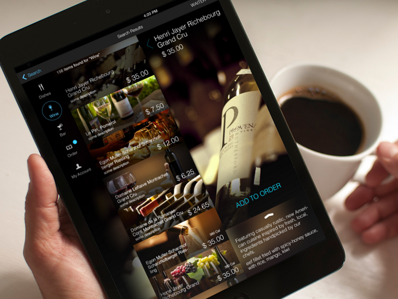 Restaurant menu ios app by yuriy kondratkov dribbble