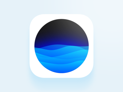 Waves App icon ios icon free icon icon pink icon blue icon disappearing ios 10 iphone 7 iphone 6se app icon siri waves