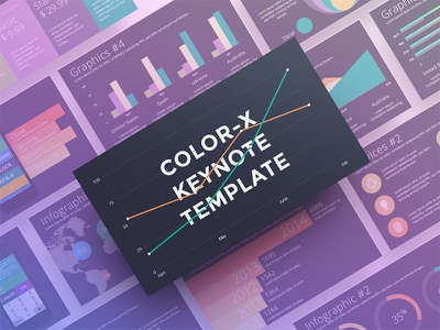 Color X Keynote Template keynote presentation color x keynote colored presentation colored keynote power point iphone 7 infographic colored icons