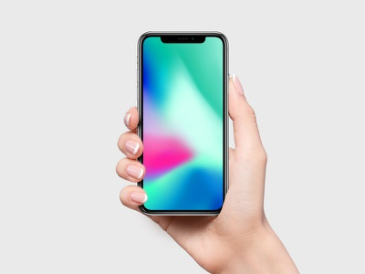iPhone X Mockup + Free Wallpaper iphone 8 iphone x iphone 10 ios 12 free mockup wallpaper iphone mockup hands mockup apple gradient