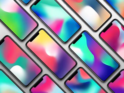 Walx Wallpapers Pack gradient apple hands mockup iphone mockup wallpaper free mockup ios 12 iphone 10 iphone x iphone 8