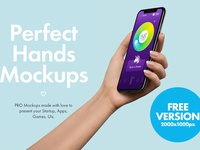 FREE iPhone in Hands Mockup