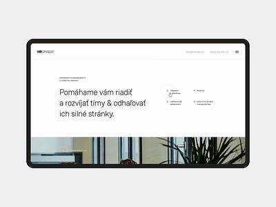 Hromada homepage prototype landing animation minimal simple homepage clean webdesign web website