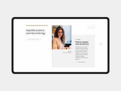 Hromada homepage – part 2 prototype animation minimal simple homepage landing clean webdesign web website