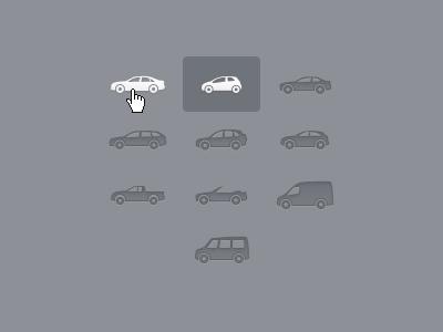 Car type icons icon pixel-perfect car vehicle ui web