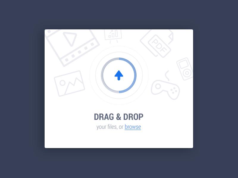 Upload Area UI web application ui drag upload pulse