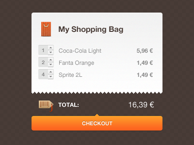 Shopping bag shop cart bag price checkout website ui e-commerce