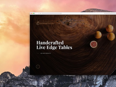 Ostrolucky.com slovakia ui rustic wood playfair serif fullscreen landing homepage