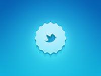 Twitter 3D badge