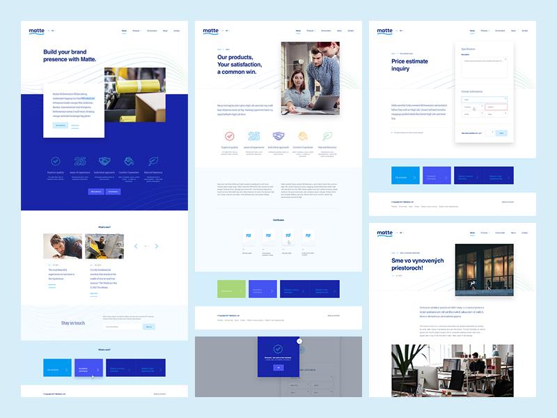 Matte – website design company simple responsive clean presentation home landing website