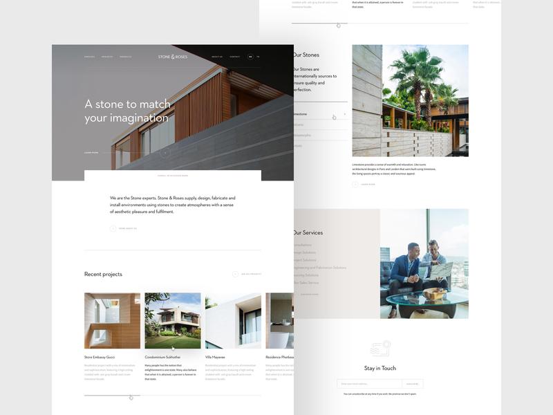 S&R homepage design webdesign web website photography hero simple clean landing homepage minimal home