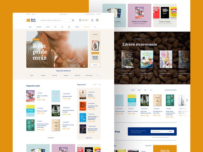 BookStore ecommerce website webdesign bookstore bookshop web interface clean website homepage eshop shop store ecommerce book books