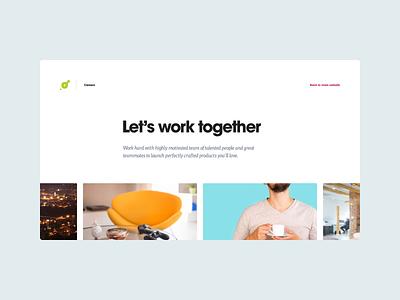 Art4web — Careers page scroll landing accordion work job career careers webdesign simple web clean website