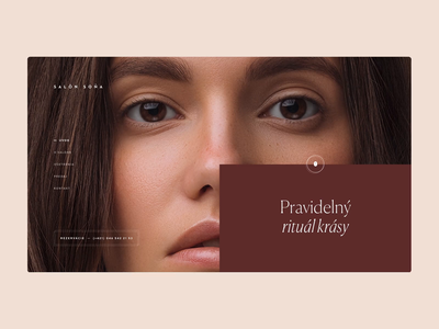 Beauty Studio Website (Animation) loading distortion principle beauty homepage clean webdesign onepage landing minimal animated animation prototype website