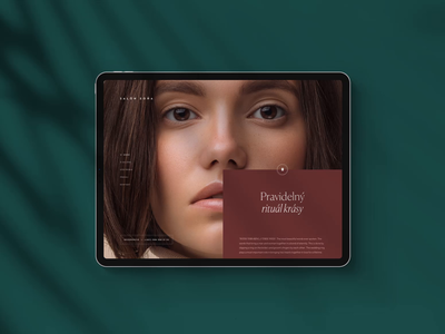 Beauty Studio Website (Case Study) clean studio beauty animation casestudy scrolling minimal landing webdesign website