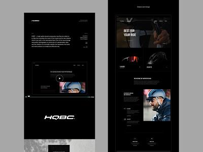 HQBC (Case study) corporate identity minimal dark homepage casestudy behance cycling bike microsite website web design web