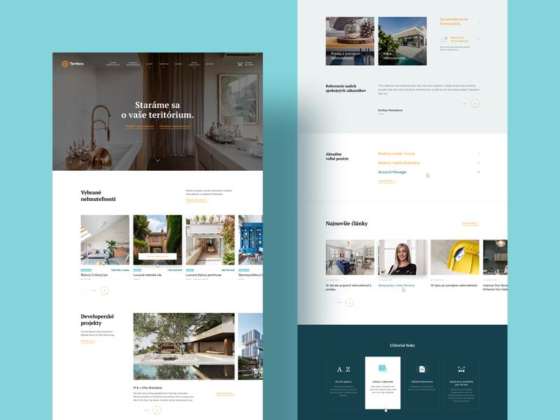 Real Estate Homepage slider landing interface website webdesign web responsive clean homepage properties realestate real estate