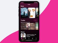 Movie App on iPhone X / iOS11