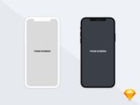Free iPhoneX flat illust MockUp