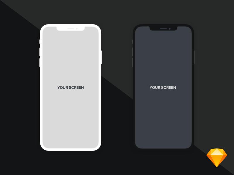 iPhone Xs Max   Flat Mockup illust device sketch mockup iphone ios
