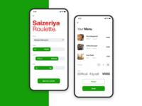 Saizeriya Roulette. iphonex ui design smartphone app ios