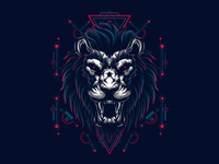 Mythical Lion Sacred Geometry