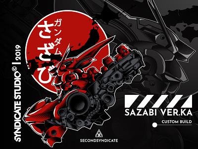 Sazabi head red japan mecha robot gundam sazabi