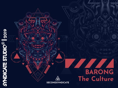 Barong The Culture sacred geometry tattoo modern geometric vector detail head sacred geometry t-shirt illustration indonesian leak devil face dance mask culture indonesia bali balinese barong