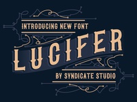 Lucifer font (BONUS 2 skulls illustration and 4 Refline Badges)