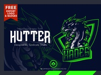 HUTTER | Esport Font + FREE Logo and Badges