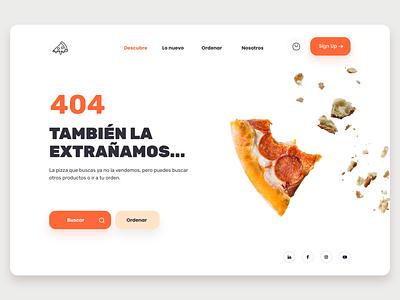 Maratón UI -03  404 branding order pizza error 404 design figma ui