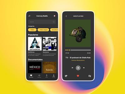 Maratón UI - Music Player figma ui sound player convoynetwork olallo podcast music musicplayer