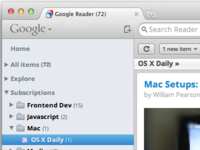 Google Reader — Mac OS Lion UI