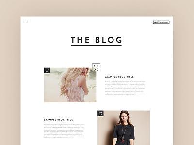 Fashion Label - Blog fashion design label web ui shop store ecommerce blog minimal