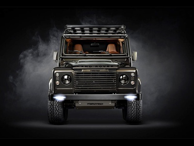 Twisted - Retouch art direction photography smoke dark retouch land rover defender car