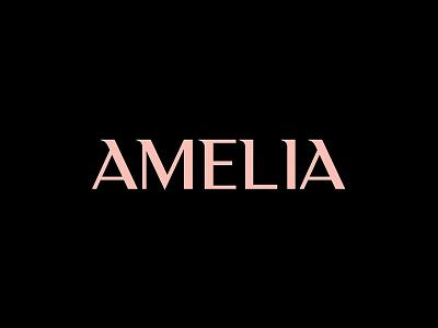 Amelia - Hairdresser / Art Director typography type logotype logo brand black pink brandmark branding art direction hairdresser amelia