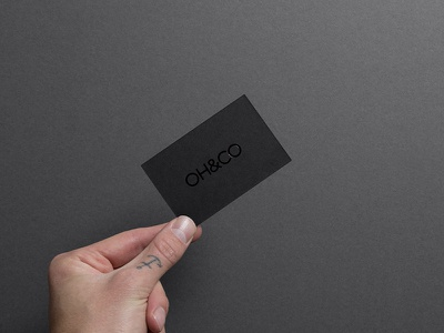 OH&CO branding iphone business card cards business black digital agency stationery brand ohand.co ohco
