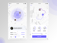 Daily UI #020 - Location Tracker location ui cycling app tracker app mobile app mobile ui ux design ui design design web design