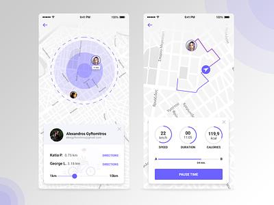 Daily UI #020 - Location Tracker location ui cycling app tracker app mobile app mobile ui ux design ui design design web design