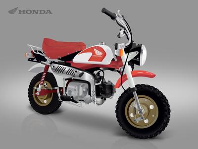 Honda Z50 vector vector z-50 illustrator monkey honda